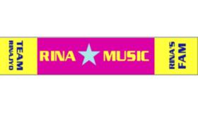 RINA布タオルとYouTube用MVに名前掲載
