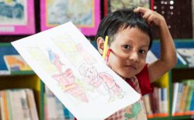 図書館から、子どもが描いた絵が届きます!