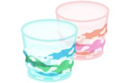 琉球ガラスで作られた三角でこぼこグラスをお届け!