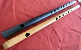 【新素材篠笛、実質無料!】拭漆姿管、吹き比べ2管セット