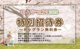 【イベント参加者向け】ドックラン特別招待券!
