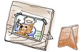 【犬楽園チームメンバーが大放出】古材のフォトスタンド!