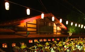 【よされ満喫コースA|8月15日】ペア桟敷席+板留温泉『旅の宿斉川』ペア宿泊券
