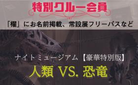 F【常設展フリーパス付特別クルー】ナイトミュージアム豪華特別版