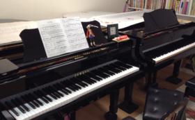 8, ピアノレッスン90分間もしくはアンサンブルのパートナー