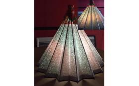和紙の風合いが魅力の卓上型和傘ランプシェード①