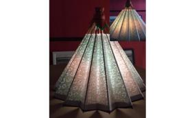 和紙の風合いが魅力の吊るし型和傘ランプシェード①