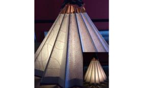 和紙の風合いが魅力の卓上型和傘ランプシェード➁