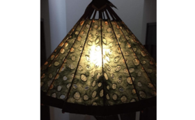 和紙の風合いが魅力の卓上型和傘ランプシェード③