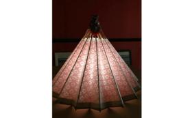 和紙の風合いが魅力の卓上型和傘ランプシェード④