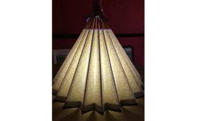 和紙の風合いが魅力の卓上型和傘ランプシェード⑤