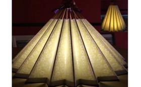 和紙の風合いが魅力の吊るし型和傘ランプシェード⑤