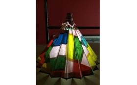 和紙の風合いが魅力の卓上型和傘ランプシェード⑥