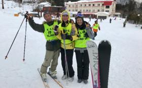 ブラインドスキーに挑戦したいという気持ちをサポート