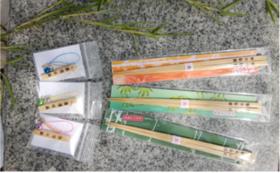 熊野の橋渡し(竹箸)3色+熊野の守(ストラップ)3個セット