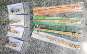熊野の橋渡し(竹箸)4色+熊野の守(ストラップ)4個セット