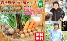【Readyfor限定】産地直送・岩手県産!旬のお野菜と卵・お米セット!
