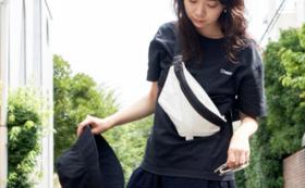 【10周年記念プロダクト】「AIRBACK」ウエストバッグ(ホワイト/ブラック)