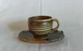 《世界一の登り窯実現へ!ラストスパート応援》ひとつひとつ手作りの自然釉の珈琲カップをお届け