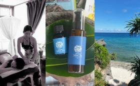 ヤラブの木5本植樹、来島時の体験チケット、池間島産タマヌオイル 100%ピュアオイルとマッサージオイルのセット