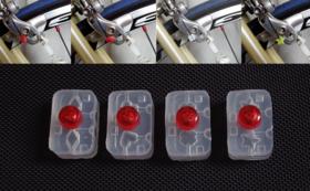 自転車店様に、4種類のほつれ止め器を50セットお届け!