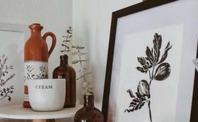 個人様、企業様向け 植物 人物のラインアート セット
