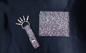 【Readyfor限定】墨流し本革キーホルダー&二つ折り財布(先着5名様)