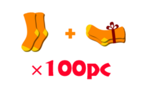 SOLOSOCKS SHARE 購入者に100PAIR + 生活困窮者に100PAIR寄付