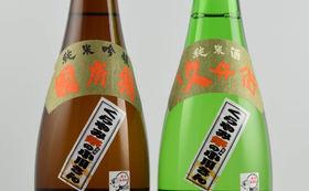 府中の地酒2本と手ぬぐいのセット(8000円)