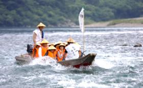 【温泉入浴券つき!】熊野川舟下り乗船券(ペア)