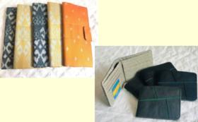 【カンボジアシルク製品を購入して応援】イカットの財布 OR 革の財布をお届け!