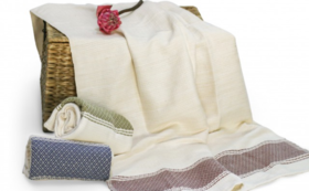 【人気リターン!】手織りのバスタオルをお届け