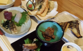 菊川の食材をふんだんに利用した和食フルコース