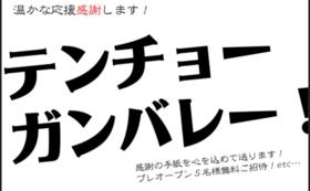 【ご祝儀コース】温かな応援ありがとうございます!