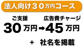 法人で30万円支援