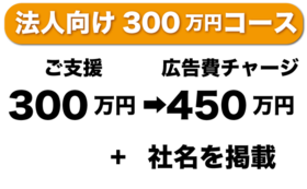 法人で300万円支援