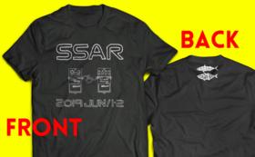 【黒】S・M・L・XL色選ぶのめんどくサバー!!サバソニ&アジロックオリジナルTシャツ
