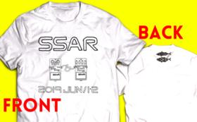 【白】S・M・L・XL色選ぶのめんどくサバー!!サバソニ&アジロックオリジナルTシャツ