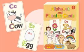 Alphabet and Phonics Cards ②アルファベット&フォニックスカード②