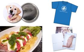 Tシャツ+ポストカード+缶バッジ+ペアお食事券