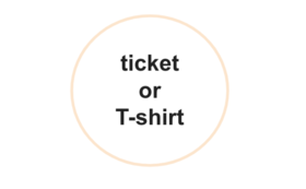 <お好きな方をお選びください>公演チケットor公演Tシャツ