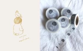 KOTORI ×ナガキパーマコラボお守り(メッセージ入力タイプ)+マスキングテープ
