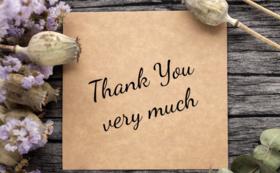 プロジェクトのご報告と「ありがとう」の気持ち。