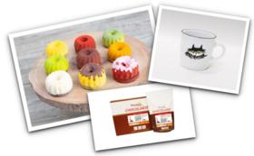 ガトーショコラ「Jack」ギフトセット(9個入)+ケーキ皿&マグカップ+ピュラトスショコランテ・ガーデナー・ミルク39%