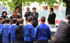絵本「アヒルのジェイ」全5話セットを【ゆかりのある学校】もしくは【サンタアガタの小学校】にプレゼント