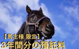 13, 【馬主様限定】3年分預託料