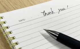 お礼のお手紙【Thanks‼】